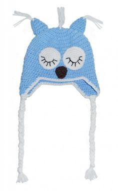 Hekla ugle lue til barn Crochet Hats, Barn, Knitting Hats, Converted Barn, Barns, Sheds