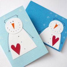 přání Christmas Card Crafts, Christmas Snowman, Kids Christmas, Holiday Crafts, Christmas Decorations, Christmas Ornaments, January Crafts, Karten Diy, Snowman Cards