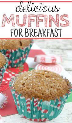 Don't miss out on these easy breakfast muffins! They're simple, delicious, and taste great! You'll love this homemade muffin recipe! #easymuffins #breakfastmuffins #homemademuffins