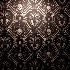 Skeleton damask by Skull-a-Day's Noah Scalin. LOVE it.