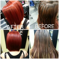 #Fiery #Red with a Bob by Victoria