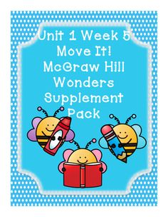This bundle includes supplementary materials for Reading Wonders Unit 1 Week 5 story Move It!Move It!*Weekly Newsletter*Spelling Scramble*Spelling Word Search*2 Phonics Worksheets*Color by High Frequency Word Ditto*High Frequency Word Search*Selection Test