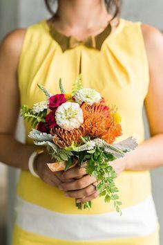 Summer bridesmaid bouquet