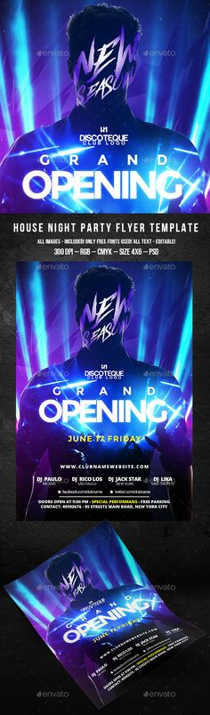 50 of the Hottest Nightclub Poster Designs Design magazine, Club - grand opening flyer template