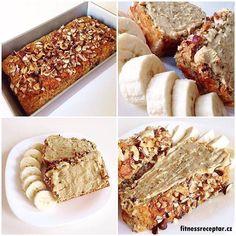 Banánový chléb s ořechy | Fitnessreceptář.cz - vybrané zdravé fitness recepty, články a více