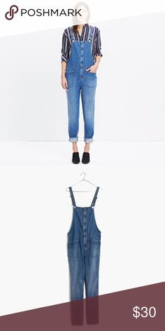 Dungarees Loose fit. Worn only a few times. Mint condition. Madewell Pants Jumpsuits & Rompers