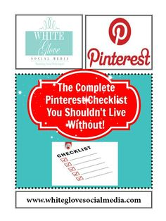 How do you know you're doing it right on Pinterest?★Here's The Complete #Pinterest Social Media Marketing Checklist You Shouldn't Live Without! ★Use this Pinterest Checklist to avoid missing important steps to a successful Pinterest account.★
