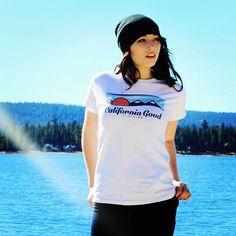 Women's California Good Logo t-shirt, available at cagoodclothing.com #california #nature #fashion #californiagood #beach