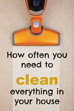 How often you need to clean everything in your home #RealEstateBuzz