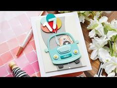 Creative Spark with Laura Bassen - Creating a Personalized Birthday Card - YouTube Card Tutorials, Video Tutorials, Mft Stamps, Animal Cards, Better Together, Birthday Cards, Homemade, Create, Baby Cards
