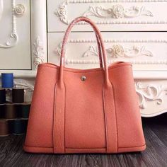 0c6f0fcd4325 Garden Party 36 30 Tote Bag in Imported Togo Leather Light Orange