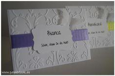 ~ Tischkarten zur Hochzeit (Bandfarbe nach Wahl) ~