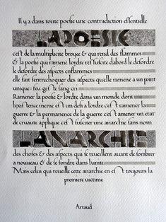 Anachropsy - Latin calligraphy by Benoit Furet - transfer caparol 2 Calligraphy Handwriting, Calligraphy Letters, Benoit, Typography, Lettering, Abcs, Sculpture, Projects, Antonin Artaud