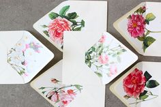 floral liners - slideshow press