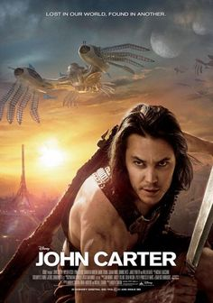 John Carter (2012) Transported to Barsoom, a Civil War vet discovers a barren planet seemingly inhabited by 12-foot tall barbarians. Finding himself prisoner of these creatures, he escapes, only to encounter Woola and a princess in desperate need of a savior.