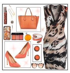 Tiger dress by amisha73 on Polyvore featuring moda, Pour La Victoire, Moreau, Katie Rowland, Bulgari, Kate Spade, Michael Kors, Casetify, Laura Mercier and Hermès