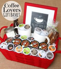 Gifts in a jar simple inexpensive and fun pinterest gift cute diy gift basket idea for coffee lovers using k cups via happy go lucky solutioingenieria Choice Image