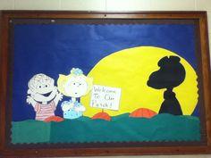 Peanuts Bulletin Board Halloween It's the great pumpkin Charlie Brown!!