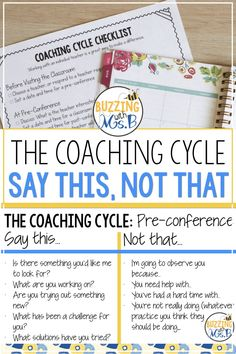 Conducting a Coaching Cycle: The Instructional Coaching Series School Leadership, Leadership Coaching, Educational Leadership, Leadership Qualities, Leadership Development, Leadership Quotes, Co Teaching, Teaching Strategies, Professional Development For Teachers