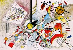 Bustling Aquarelle (c.1923) Wassily Kandinsky print at Amazon.com