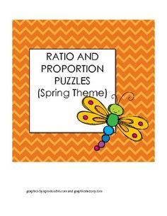 This is a set of two puzzles that students can use to practice solving ratio and proportion problems.  The first puzzle will help students practice setting up ratio word problems.  The second puzzle is solving proportion problems.  These two puzzles have a spring theme.