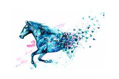 Watercolor Horse, Watercolor Drawing, Watercolor Paintings, Diy Painting, Painted Horses, Horse Drawings, Animal Drawings, Arte Equina, Horse Tattoo Design