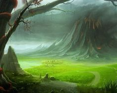 dark mountain - Fantasy pictures and fantasy images