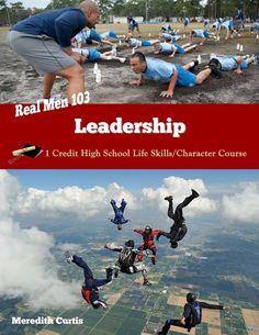 Real Men 103: Leadership E-book by Meredith Curtis. 1 Credit High School Life Skills Class.