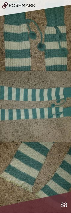 Stripped leg warmers Blue/Green duo-toned leg warmers. Never really worn. (Check out the other pair in purple listed if you happen to like these) Other