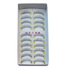 10 Pairs European Microfiber Black False Eyelashes (10 Pairs European Microfiber Black False Eyelashes) by www.blushbrushes.com