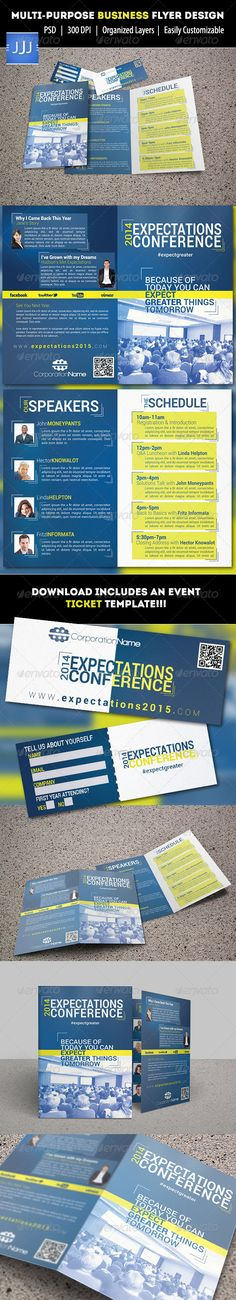 Event Summit Conference Flyer  Flyers Events And Business Cards