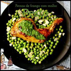 Pernas de frango com molho pesto de espinafres ♥♥♥ - http://gostinhos.com/pernas-de-frango-com-molho-pesto-de-espinafres-%e2%99%a5%e2%99%a5%e2%99%a5/