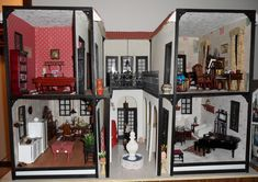 Picture (jt-The Hacienda built by Nana's Minis. I really like the centre courtyard of this dolls house - great potential! click through for pics of rooms)