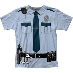 Impact Originals Police Cop Uniform Costume Tee (Small) *Click image to check it out* (affiliate link)