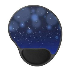 Bokeh Blue Abstract Starry Sky Gel Mouse Pad