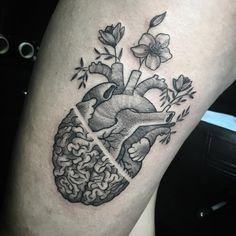 Image result for heart brain tattoo