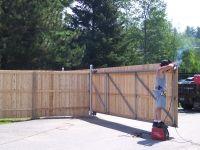 12 X 6 Wood Gate W Steel Frame Andrew Thomas Contractors Gates Pinterest