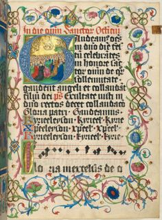 Illuminated Letter G, Missale 15. Jh.