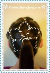 Snowflake hairstyle tutorial