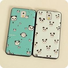 Panda-Print Samsung Galaxy Note 2/Note 3/Note 4/S4/S5 Case from #YesStyle <3 Cuteberry YesStyle.com