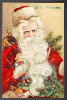 Old world santa claus german santa claus magic santa claus red suited german santa claus with real white beard m4hsunfo Images