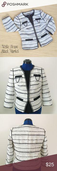 Spotted while shopping on Poshmark: White House Black Market Tweed Jacket Size 2! #poshmark #fashion #shopping #style #White House Black Market #Jackets & Blazers