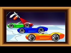 Learn colors with car painting.Learning Video for Toddler Babies and pre...