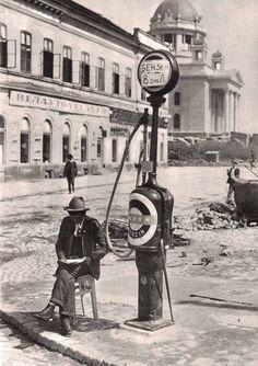 Beograd 1920.godine - Selling gas, Belgrade Serbia in 1920