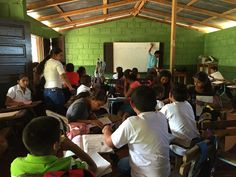 The busy classroom of the La Chispa School. Here, 40 kids from ages are taught by one teacher. Conference Room, Classroom, Teacher, Culture, School, Kids, Home Decor, Class Room, Young Children