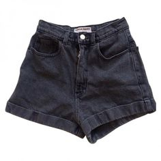 American Apparel high-waisted shorts AMERICAN APPAREL ($34) ❤ liked on Polyvore featuring shorts, bottoms, pants, short, high-waisted denim shorts, high rise shorts, grey shorts, high-waisted shorts and highwaist shorts