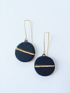 Horizon Dangle Earrings by Syra Gomez: Ceramic Earrings - STUDIO SALE available at www.artfulhome.com