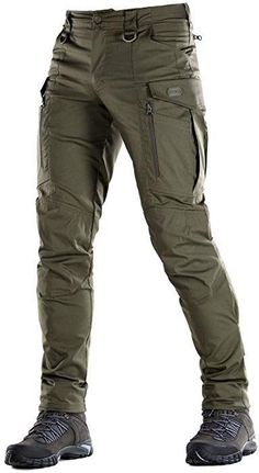 M-Tac Conquistador Flex - Tactical Pants Men - with Cargo Pockets (Olive Dark, X. Mens Tactical Pants, Tactical Wear, Tactical Clothing, Casual Outfits, Men Casual, Fashion Outfits, Mode Swag, Herren Outfit, Mode Masculine