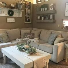 Chic And Laid Back Is What Living Room All About The Salonne Sectional Helps To Make This A Natural Rustic Farmhouse Dream