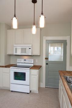 Wall=sedate gray, door=unusual gray,trim=alabaster; by sw